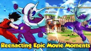 Epic Moments from Dragon Ball Z Movies Reenacting DBZ Movies Dragon Ball Xenoverse 2