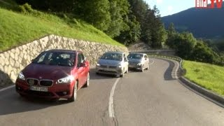 BMW 2er Active Tourer vs. VW Golf Sportsvan vs. Mercedes B-Klasse