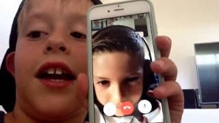 Sammy pants and mr benny on FaceTime