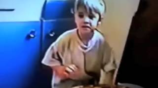 Justin Bieber at 2 years of age drumming