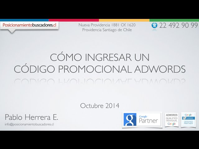 Código Promocional AdWords ¿Cómo Ingresarlo?