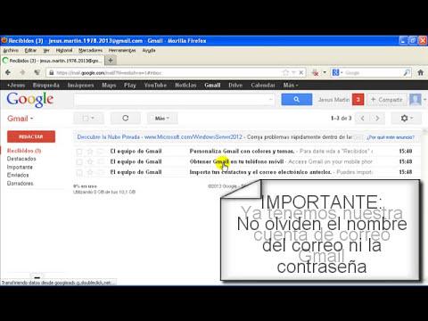 Como crear una cuenta de correo electronico Gmail. MUY FACIL!!