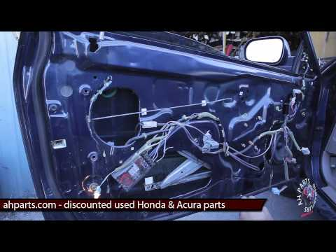 Part2 how to fix replace install broken window regulator for 2001 honda accord window regulator replacement