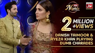 Danish Taimoor & Ayeza Khan Playing Dumb Charades | Peekachu Segment | BOL Nights with Ahsan Khan