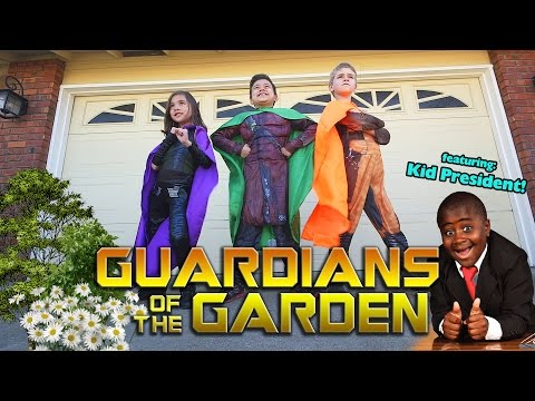 GUARDIANS OF THE GARDEN! Surprise Box from KID PRESIDENT! Guide to Being Awesome!!!