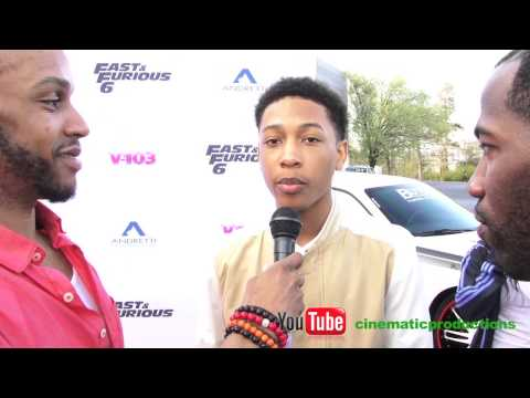 Jacob Latimore at Ludacris Fast and Furious event in ATL