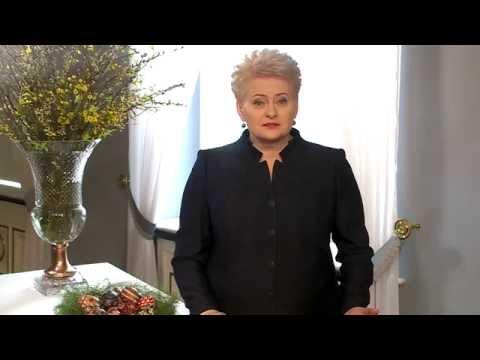 Prezidentės sveikinimas Lietuvos žmonėms šv. Velykų proga
