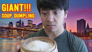 GIANT Soup Dumpling Xiao Long Bao Food Review!