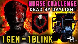NURSE CHALLENGE: 1 Gen = 1 Blink! [#260] Dead by Daylight with HybridPanda