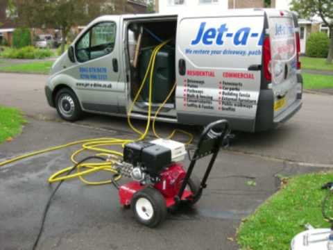 Driveway cleaning hertfordshire gum removal steam for Pressure washer driveway cleaner