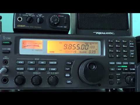 NHK Radio Japan in french from Madagascar relay 9855 Khz Shortwave