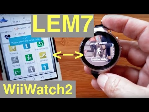 LEMFO LEM7 4G Cell 1GB/16GB Android 7 Smartwatch: Tethering to new WiiWatch2 App