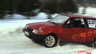 Latvia Winter Cup crash and mistake 2010/2011