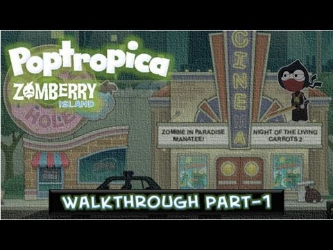 Poptropica Zomberry Island Walkthrough Part 1