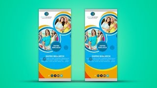 Corporate Roll Up Banner Design - Photoshop Tutorial