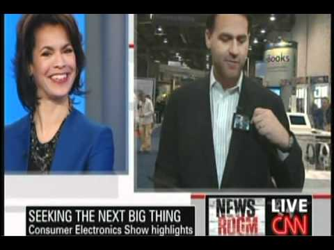 CNN's Dan Simon Wearing the Video Name Tag at CES 2011.avi
