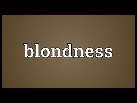Header of blondness