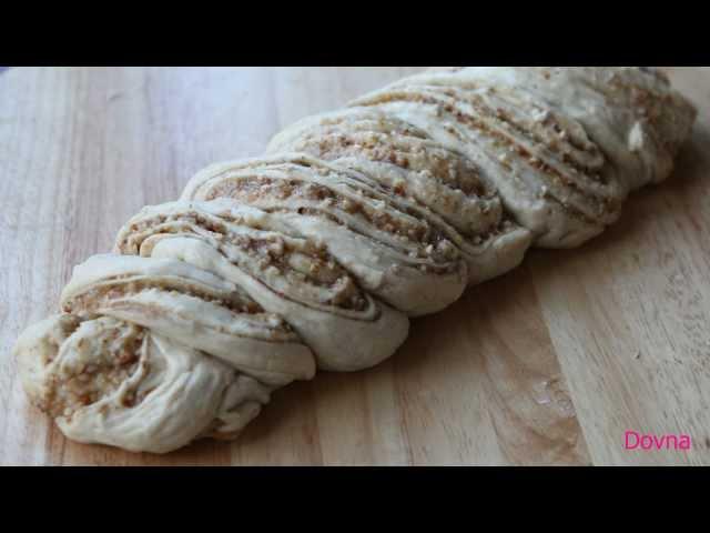 плетенка из дрожжевого теста  с орехами