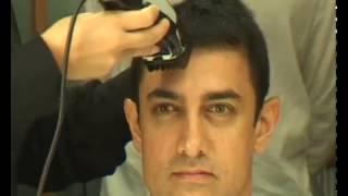 Aamir khan cutting HAIR - Rare video-unseen video