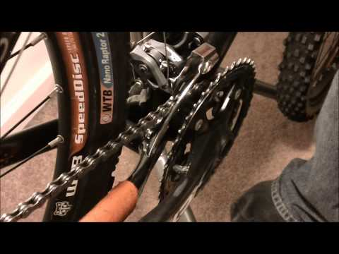 How to adjust a front derailleur!