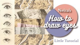 How I draw eyes! Easy & simple for beginners跟我這樣畫眼睛![Little tutorial]