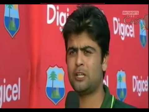 Ahmed Shehzad 102 runs vs West Indies Man of the Match Presentation Ceremony 25.04.2011