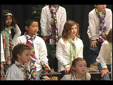 Mission Bay Montessori Academy Christmas Show 2011 - Singing Christmas Carols Live - 12/31/2011