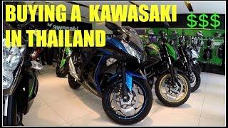 BUYING A KAWASAKI NINJA IN THAILAND V150