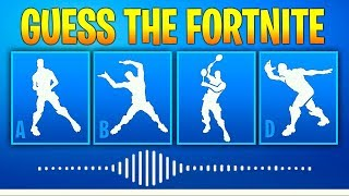 Guess The Fortnite Dance Name By The Sound - Music #2 - Fortnite challenge