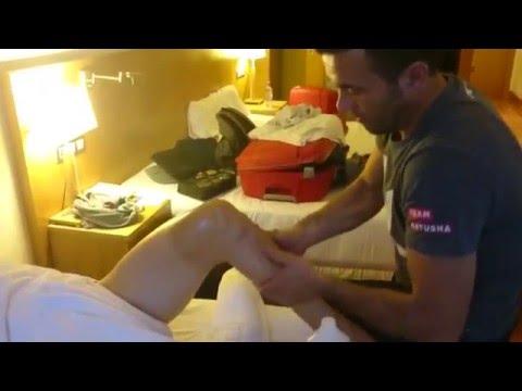 Volta Catalunya. A massage session with Joaquim Rodriguez