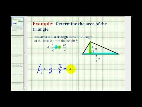 Example:  Area of a Triangle Involving Fractions