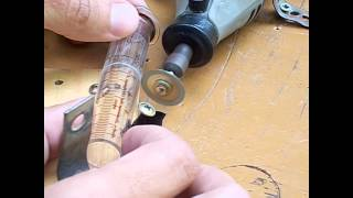 Como cortar seringa de vidro e tubo de ensaio - How to cut glass syringe for Stirling engine
