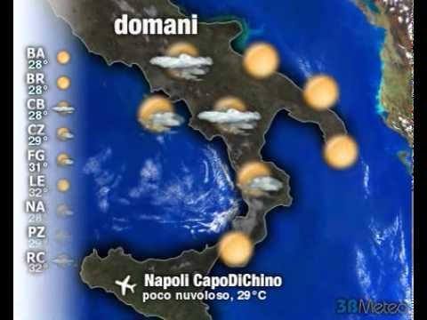 Meteo Italia a 3 giorni del 01/08/2011