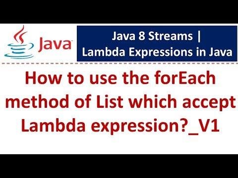 Java Tutorial: Lambda expression in java | Java Lambda expressions[forEach method of List]