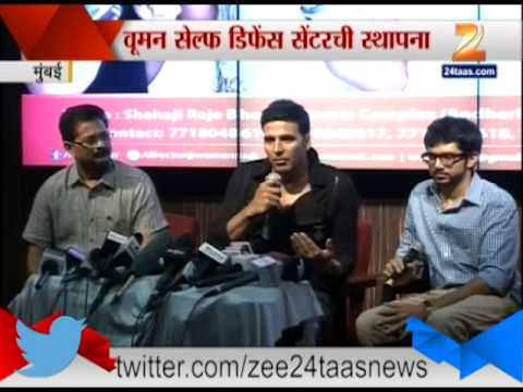 Mumbai Akshay Kumar Inagurrating Women Self Defence Center With Shiv Sena