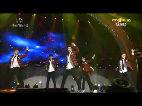 140123 Exo - Let Out The Beast + Wolf + Growl + Daesang Award  Seoul Music Awards 2014 video