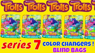 Color Change Trolls Series 7 Dreamworks Blind Bags Opening Surprise Toys Fun Kids Review