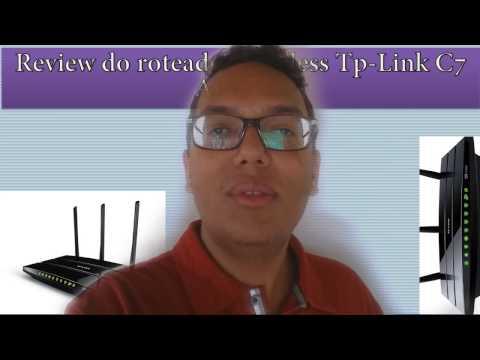 Review do roteador wireless Tp Link C7 AC1750: Parte 1 (6 antenas)