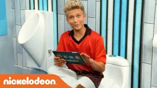 Thomas Kuc Gives a Tour of the Game Shakers Bathroom!? | Nick