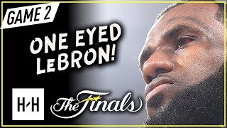 One Eyed LeBron James Full Game 2 Highlights vs Warriors 2018 NBA Finals - 29 Pts, 13 Ast, 9 Reb