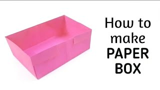 How to make an origami paper box - 5 | Origami / Paper Folding Craft, Videos and Tutorials.