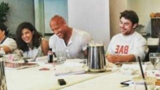 Priyanka Chopra Dinner With Zac Efron, Dwayne Johnson