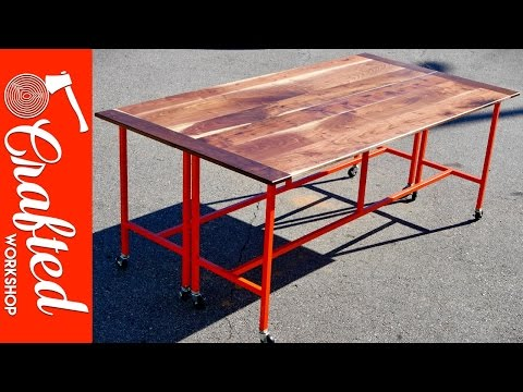 How To Build A Conference Table / Dining Table w/ Walnut & Steel | Crafted Workshop