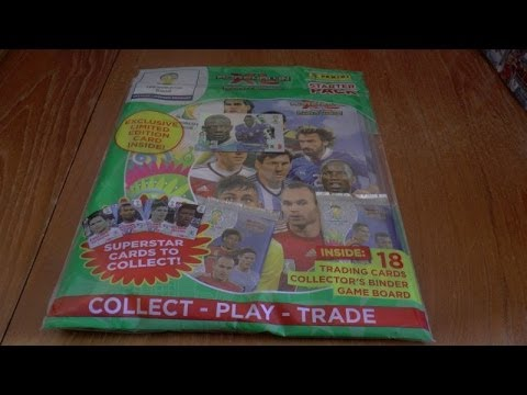 STARTER PACK (uk edition) ADRENALYN XL 2014 FIFA WORLD CUP trading card game OPENING & REVIEW panini