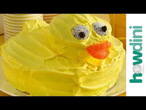 How to make a rubber ducky cake Birthday cake decorating ideas