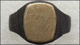 Old Gold Silver Ring Found Beach Metal Detecting