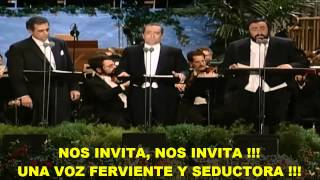 Los 3 Tenores La Traviata Subtitulada Español Hd Libiamo Ne 39 Lieti Calici Los Ángeles 1994