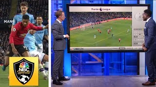 How Wan-Bissaka and Lindelof shut down Manchester City | Premier League Tactics Session | NBC Sports