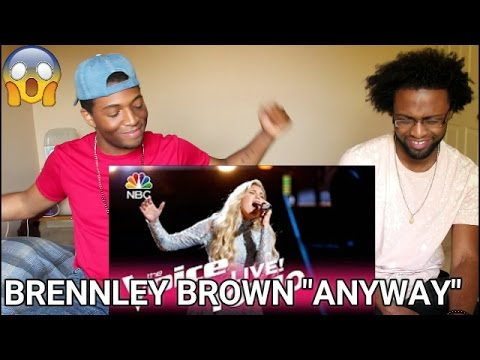 The Voice 2017 Brennley Brown  Top 10: Anyway REACTION