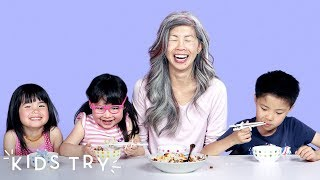 Kids Try Their Moms' Family Recipes | Kids Try | HiHo Kids